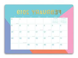 Orange Circle Studio 2019 Decorative Desk Blotter Calendar,
