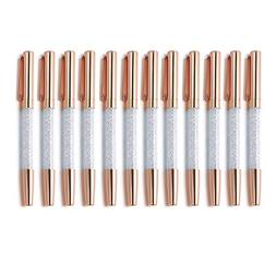 Rose Gold Pens,Diamond Pens 12Pcs Fine Point Crystal Roller