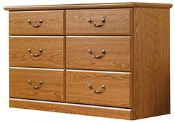 Sauder 401410 Carolina Oak Finish Orchard Hills Dresser, 6 D