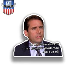 So sue me the office decal Sticker Phone laptop car window l