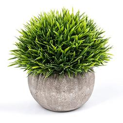 Vangold Lifelike Artificial Plants Plastic Grass Plants with