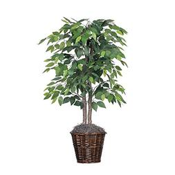 Vickerman 4-Feet Artificial Natural Ficus Bush with Dark Gre