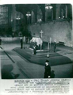 Vintage photo of Sir Winston Churchill39;s coffin in Westmin