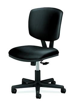 Volt Series Task Chair with Synchro-Tilt, Black Leather