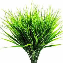 YUEJIA 4 Pcs Artificial Outdoor Plants Faux Plastic Wheat Gr