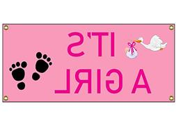 "It's a Girl Congratulations Banner Welcome Home Sign 36"" By"