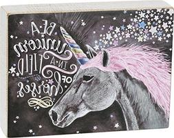 """Be a Unicorn in a Field of Horses - Primitives by Kathy 8"""" x"""
