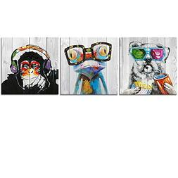 Abstract Animal Painting Canvas Prints Cool Dog Eat Breakfas