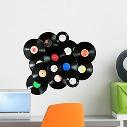 Wallmonkeys Abstract Music Made Vintage Wall Decal Peel and