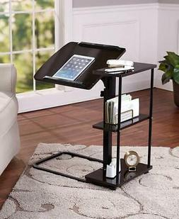 ADJUSTABLE HEIGHT DESK ESCRITORIO WITH SIDE SHELVING OFFICE