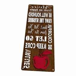 Advice From an Apple Metal Sign; Wall Decor for Office or Me