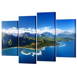 Kreative Arts Beautiful Aerial View of Spectacular Na Pali C