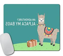 Alpaca - Mouse Pad - Funny Llama Gift - Travel Gifts for Mom