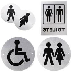 Aluminium Alloy Toilet Entrance Sign Door Decor Bathroom WC