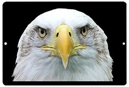 Rogue River Tactical American Bald Eagle Face Metal Tin Sign