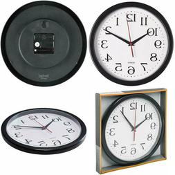 Analog Atomic Wall Clock Home Decor Self-Set Accurate Quiet