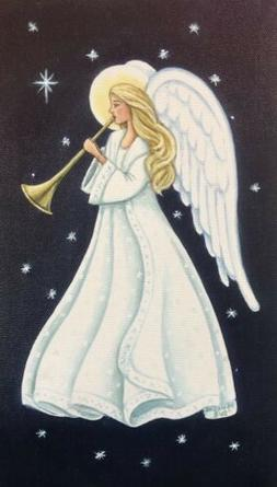Angel LED Light Up Lighted Canvas Painting Picture Wall Art