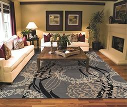 Large Area Rugs for Living Room 8x10 Clearance Gray