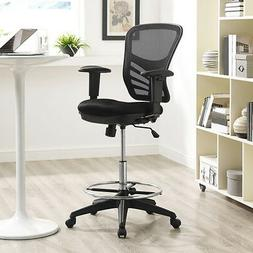 Modway Articulate Drafting Chair In Black - Reception Desk C