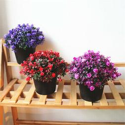 Artificial Bonsai Plants Flower Indoor Fake Potted Home Offi