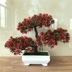Artificial Bonsai Potted Plant Mini Pine Tree Guest Greeting