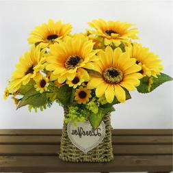 Artificial Bunch Sunflower Spring Flowers Home Office Center