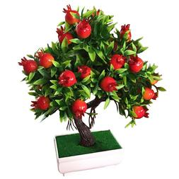 Artificial Fake Fruit Tree Bonsai Potted Office Home Garden