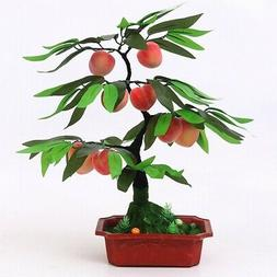 Artificial Fake Fruit Trees Bonsai Potted Office Home Window