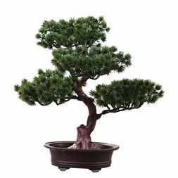 Artificial Fake Green Plant Bonsai Potted Simulation Pine Tr