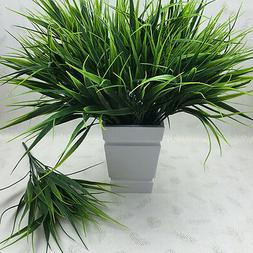 Artificial Fake Plastic Green Grass Plant Flowers Office Hom