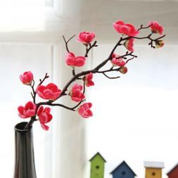 Artificial Fake Silk Flowers Cherry Plum Blossom Home Party