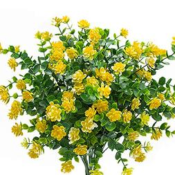 YISNUO Artificial Flowers, Fake Outdoor UV Resistant Plants