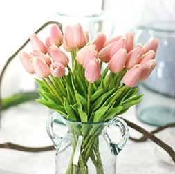 Supla Artificial Flowers 20 heads Real Touch Tulips PU Tulip