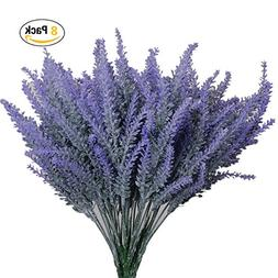 CATTREE Artificial Flowers Flocked Plastic Lavender Bundle F