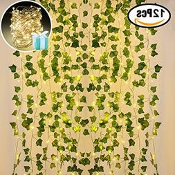 Lvydec Artificial Ivy Garland Fake Plants 84 Ft 12 Pack Hang