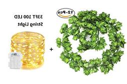 Artificial Ivy Garland Plants 82 Ft 12 Pack Hanging Vines Fa