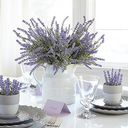 Heart to Heart Artificial Lavender Plant with Silk Flowers f