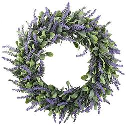 "GTIDEA 16"" Artificial Lavender Wreaths Flowers Arrangements"