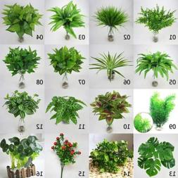Artificial Plant Fake Leaf Foliage Grass Indoor/outdoor Home