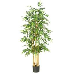 Artificial Plant Indoor Outdoor Potted 64 in. Bamboo Silk Tr