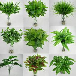 Artificial Plants Fake Leaf Foliage Bush Home Office Garden
