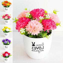 Artificial Potted Plant Flowers In Pot Fake Bonsai Home Indo