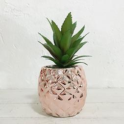 """Artificial Potted Succulent 7.8"""" Pineapple Home Deco Tableto"""