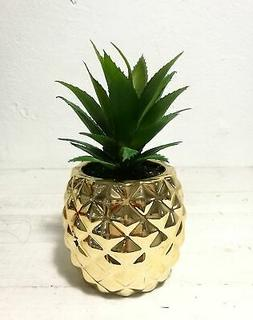 """Artificial Potted Succulent 7.8"""" Pineapple Gold Home Tableto"""