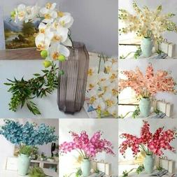 Artificial Silk Orchid Phalaenopsis Flowers 8 Heads Bouquet