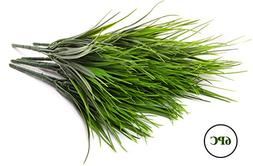 Artificial Wheat Grass Green Plant Spray Pick Bouquet Bush -