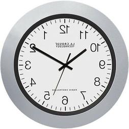 "La Crosse Technology 10"" Atomic Analog Clock, Silver"