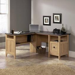 "Sauder 412320 August Hill L-Shaped Desk, L: 59.06"" x W: 58.7"