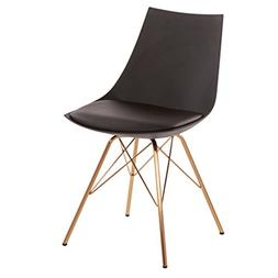 Avenue Six AVE SIX Oakley Faux Leather Task Chair with Gold