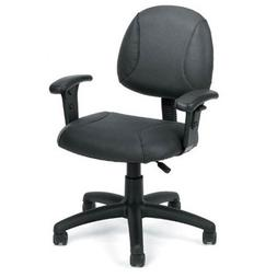 BOSS Office Products B306 Posture Chair in Black with Adjust